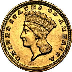 1859 D G$1 MS obverse