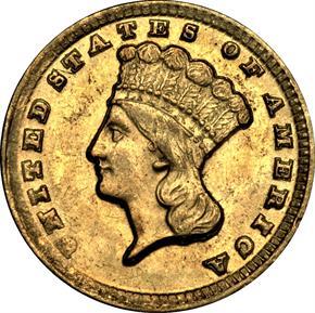 1861 D G$1 MS obverse