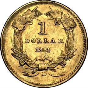 1861 D G$1 MS reverse