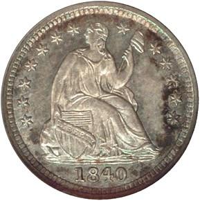 1840 DRAPERY H10C MS obverse