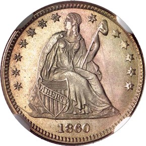 1860 TRANSITION J-267 H10C MS obverse