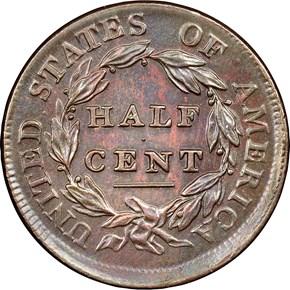 1809 1/2C MS reverse
