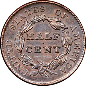 1828 1/2C MS reverse