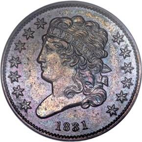 1831 ORIGINAL 1/2C PF obverse