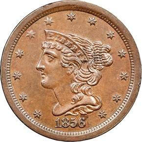 1856 C-1 1/2C MS obverse