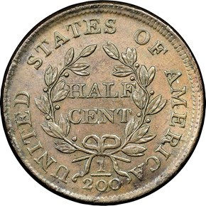 1804 SPIKED CHIN 1/2C MS reverse