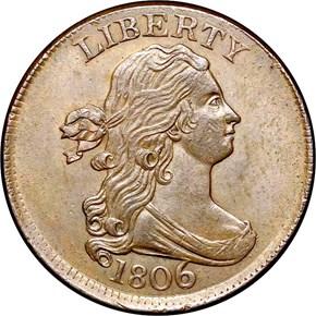 1806 1/2C MS obverse