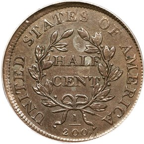 1808/7 1/2C MS reverse
