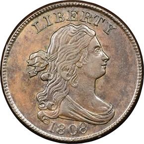 1808 1/2C MS obverse