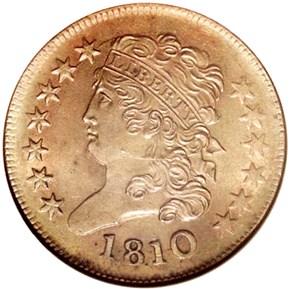 1810 C-1 1/2C MS obverse