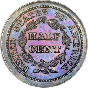 1846 RESTRIKE 1/2C PF reverse