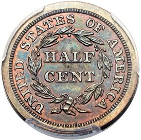 1848 ORIGINAL 1/2C PF reverse
