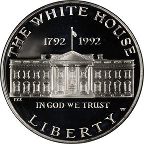 1992 W WHITE HOUSE S$1 PF obverse