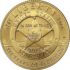 2015 W U.S. MARSHALS SERVICE $5 MS obverse