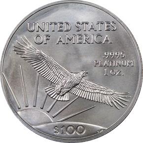 2016 EAGLE P$100 MS reverse