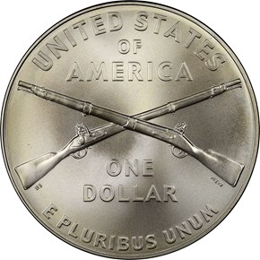 2012 W INFANTRY SOLDIER S$1 MS reverse