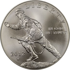 2012 W INFANTRY SOLDIER S$1 MS obverse