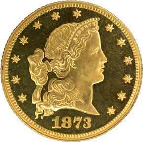 1873 J-1337 $5 PF obverse