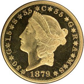 1879 J-1643 $20 PF obverse