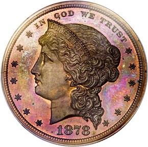 1878 J-1554b S$1 PF obverse