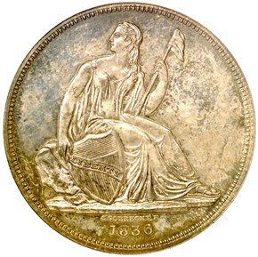 1836 SILVER GOBRECHT J-58 S$1 PF obverse