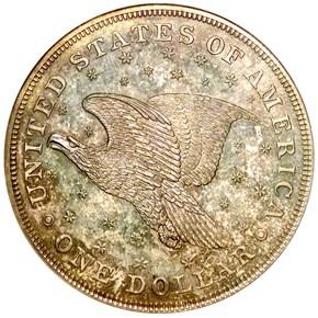 1836 SILVER GOBRECHT J-58 S$1 PF reverse