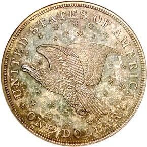 1836 SILVER GOBRECHT J-58 $1 PF reverse