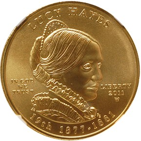 2011 W LUCY HAYES G$10 MS obverse