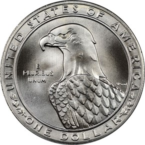 1983 S OLYMPICS S$1 MS reverse