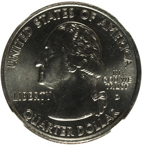 2000 D MASSACHUSETTS 25C MS obverse