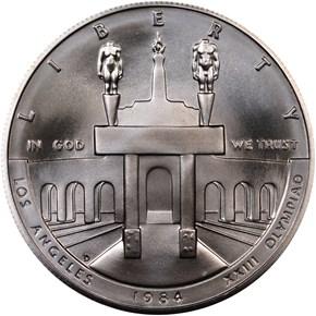1984 D OLYMPICS S$1 MS obverse