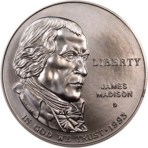 1993 D JAMES MADISON S$1 MS obverse