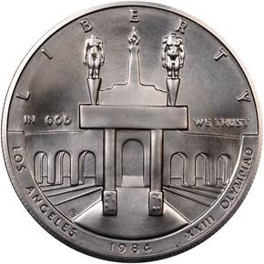 1984 S OLYMPICS S$1 MS obverse