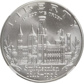 1996 D SMITHSONIAN INSTITUTION obverse