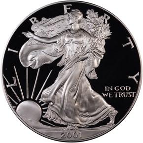 2001 W EAGLE S$1 PF obverse