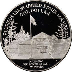 1994 P PRISONER OF WAR MUSEUM S$1 PF reverse