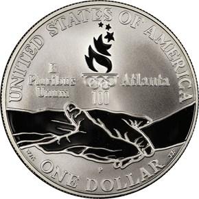 1995 P OLYMPICS - PARALYMPICS S$1 PF reverse