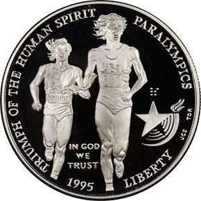 1995 P OLYMPICS - PARALYMPICS S$1 PF obverse