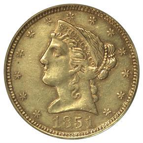 1851 SHULTZ & CO. $5 MS obverse