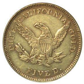 1851 SHULTZ & CO. $5 MS reverse