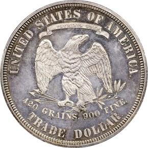 1876 T$1 PF reverse