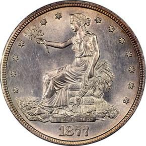 1877 T$1 MS obverse