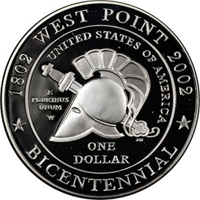 2002 W WEST POINT S$1 PF reverse
