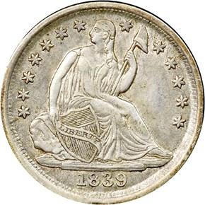 1839 O H10C MS obverse