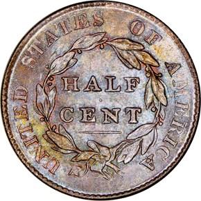 1825 1/2C MS reverse