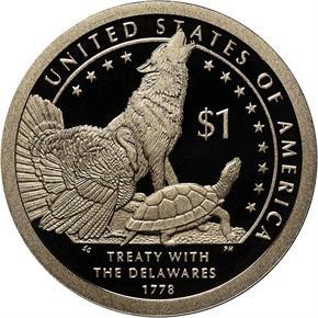2013 S SACAGAWEA TREATY WITH $1 PF reverse