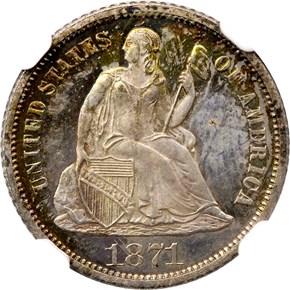 1871 CC 10C SP obverse