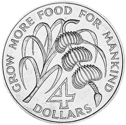 Antigua 4 Dollars reverse