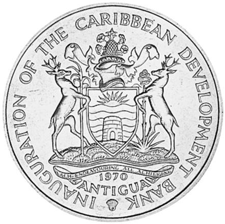 Antigua 4 Dollars obverse
