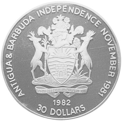 Antigua & Barbuda 30 Dollars obverse
